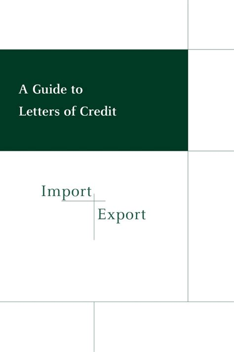 Import Export Letter Of Credit Import Export Guide Letter Of Credit