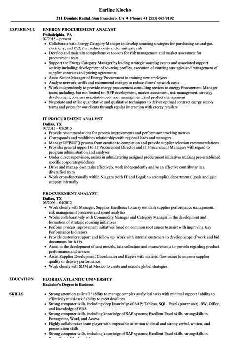 Purchasing Analyst Description by Procurement Financial Analyst Description Exle Resume Best Resume Templates