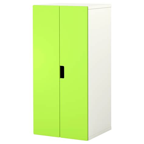 ikea childs wardrobe stuva storage combination with doors white green 60x50x128