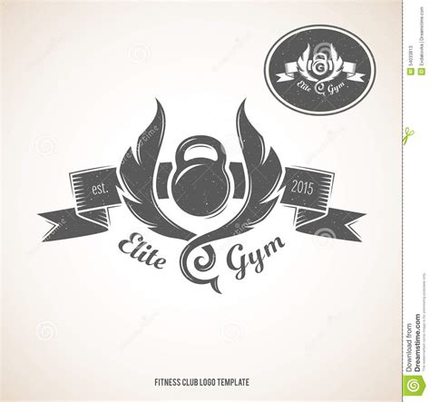 Fitness Club Logo Template Stock Vector Image Of Retro 54033813 Nightclub Logo Template