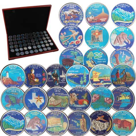 colored quarters colored quarters colorized state quarters numista