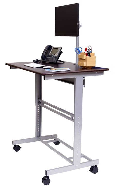 stand up computer desk on wheels ᐅ best stand up desks reviews compare now