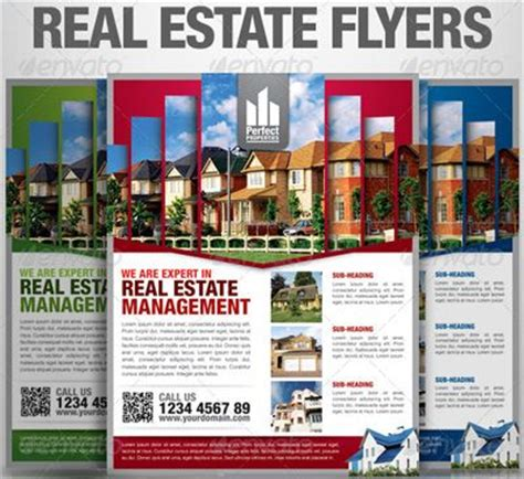real estate advertising templates 15 real estate flyer templates for marketing caigns