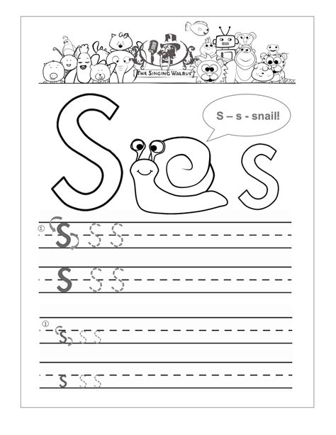 Business Letter Writing Activities letter s worksheets for kindergarten 1st grade