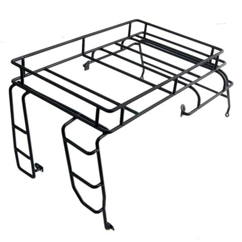 Roof Rack Metal D90 Rc 1 10 z c0024 black metal luggage roof rack rc ax for 1 10 land rover d90 wrangler in parts