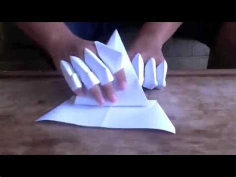 How To Make Origami Gloves - how to make a paper gauntlet