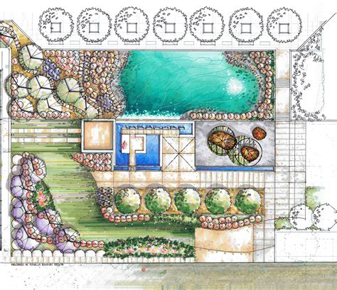 landscape plan by romella edgmon beloose graphic workshop