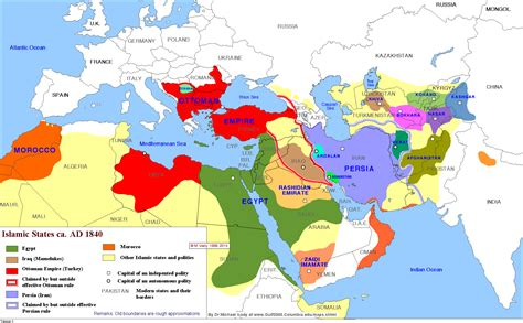 united states of islam map most of the muslim world in 1840 by m izady map islam