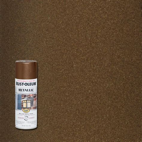 rust oleum stops rust 11 oz vintage metallic copper protective enamel spray paint 286525