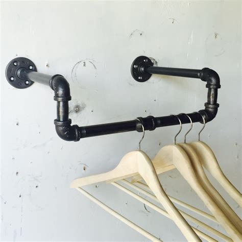 Industrial Pipe Clothing Rack by Industrial Pipe Clothing Rack 16 Inch Mounts