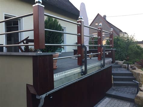 balkongelã nder shop balkongel 228 nder holz edelstahl kombiniert