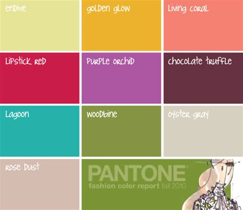 pantone color schemes pantone fashion color report fall 2010