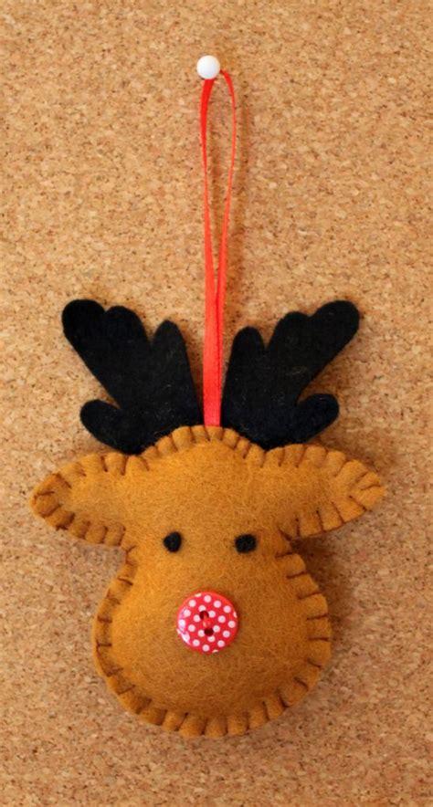 reindeer felted cute felt crafts pinterest
