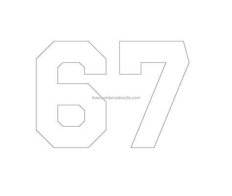 printable jersey number stencils free jersey printable 67 number stencil