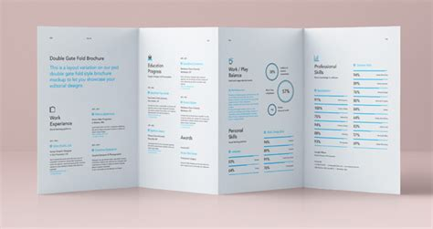 html5 website template free psd double gate fold brochure vol4 psd mock up templates