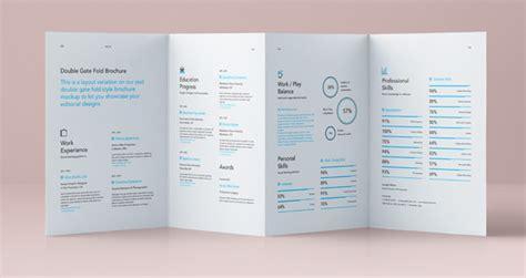 psd double gate fold brochure vol4 psd mock up templates
