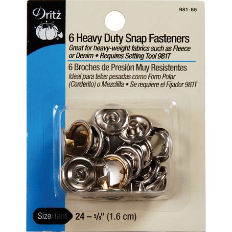 Online Shopping Sites Home Decor dritz 0 63 heavy duty snap fasteners 6pcs size 24 nickel