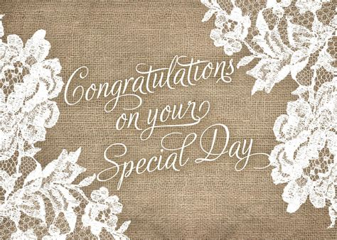 Wedding Congratulations To And In by Rustic Wedding Congratulations Card Achievement By Brookhollow