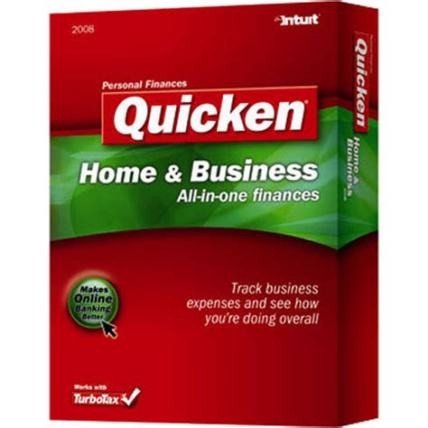 intuit quicken home and business 2008 software for windows