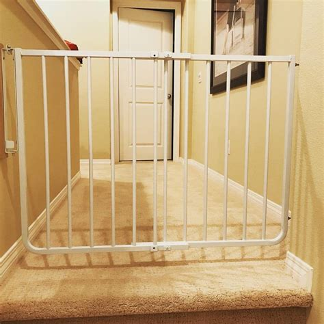 best baby gate for top of stairs with banister child safety gate for top of stairs baby safe homes