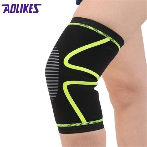 Supports Aolikes 1pcs Wristbands Bandage Safety Knee Pads sports brace pad weight lifting wraps bandage straps guard compression knee brace knee