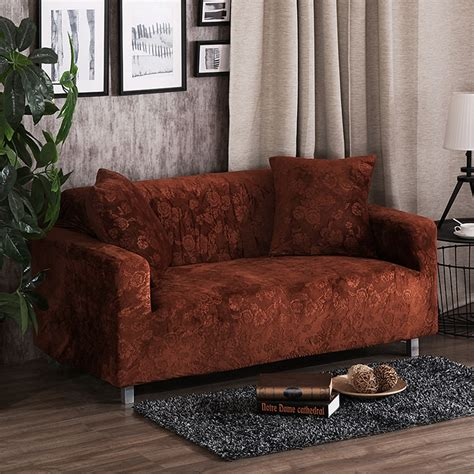brown couch covers brown sofa seat cushion cover solid color stretch