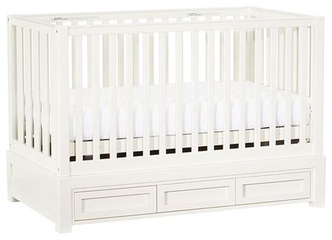 Crib Gate by Skylar Fixed Gate Crib Traditional Cots By Pottery