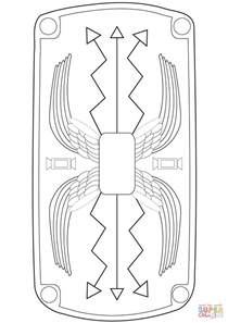shield template to print rome coloring page az coloring pages
