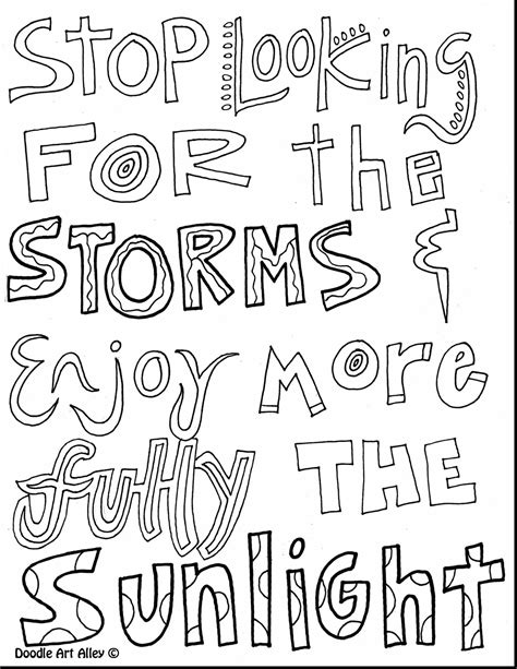 coloring pages with quotes free coloring books