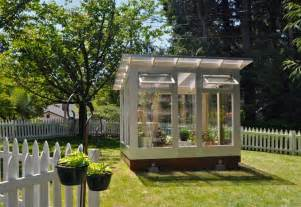 Backyard Greenhouse Designs Studio Sprout 8x10 Greenhouse Operable Windows Modern