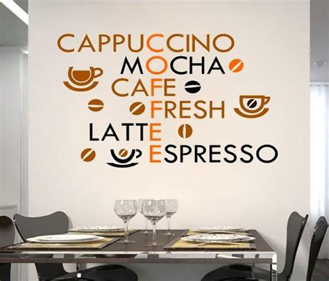 wall stickers shop coffee shop wall decals kitchen wall stickers coffee