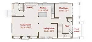 Rectangular Bungalow Floor Plans by Ferabee