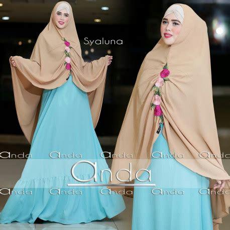 Gamis Syaluna syaluna blue baju muslim gamis modern