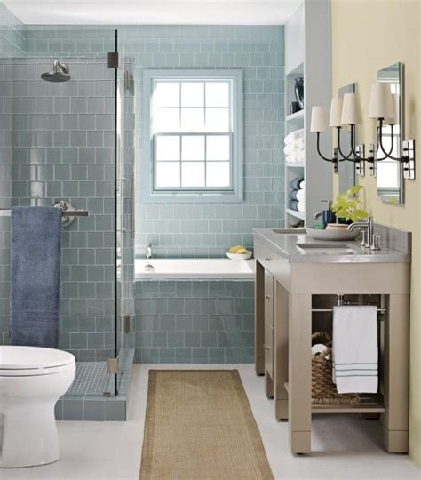 Glass Bathroom Tile Ideas | 40 blue glass bathroom tile ideas and pictures