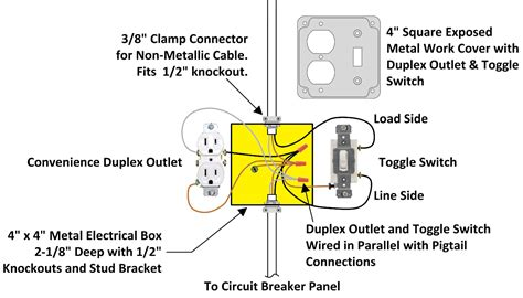 wiring a light switch and outlet diagram gooddy org