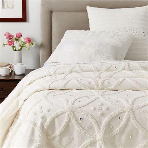 Candlewick Bedspread Candlewick Circle Bedspread White West Elm