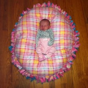 No Sew Floor Pillow For Baby by No Sew Floor Pillow Made Just Like The No Sew Blankets