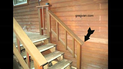 how to build a banister for stairs watch this video before building a deck stairway handrail