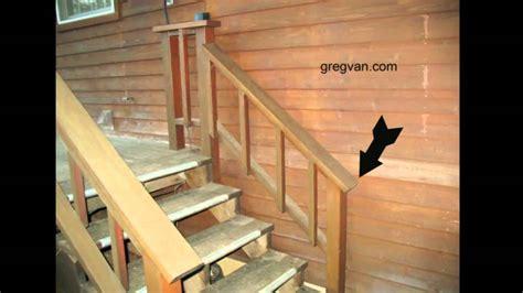 big mistake  building  deck stairway handrail youtube