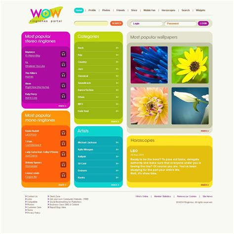 Mobile Content Website Template 25005 Website Content Template