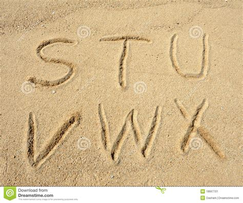 Letter In The Sand Alphabet Letters In Sand On Stock Image Image 18667701