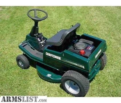 armslist for sale craftsman riding mower