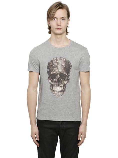 Skull The Shirt Roma Clothz mcqueen skull t shirt in gray for