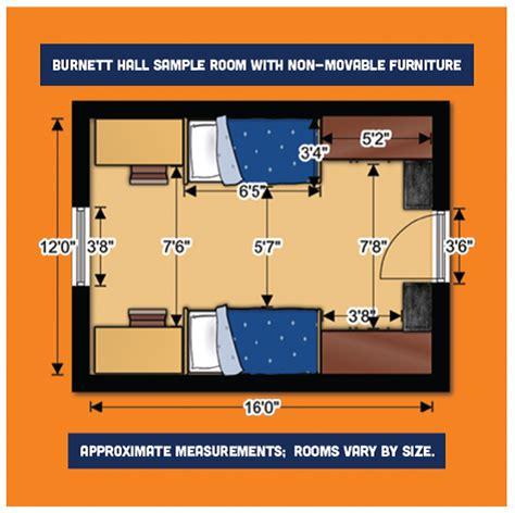 average bedroom dimensions room dimensions carson newman