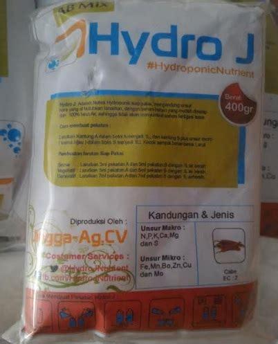 Nutrisi Hydroponik Ab Mix Hydro J Cabe jual nutrisi hidroponik ab mix cabe hydro j 1 l 400 gram
