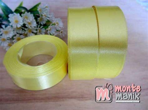 Pita Satin 1inch 2 5cm pita satin kuning 1 inch pita 020 montemanik pusat