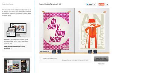 poster mockup templates 40 free psds and actions for mock ups webdesigner depot