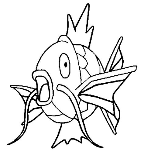 Pokemon Coloring Pages Magikarp | coloring pages pokemon magikarp drawings pokemon
