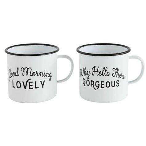Enamel Coffee Mugs   Set of Two ? Vintage Farmhouse Finds