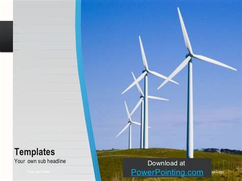 powerpoint themes wind energy powerpoint wind turbine